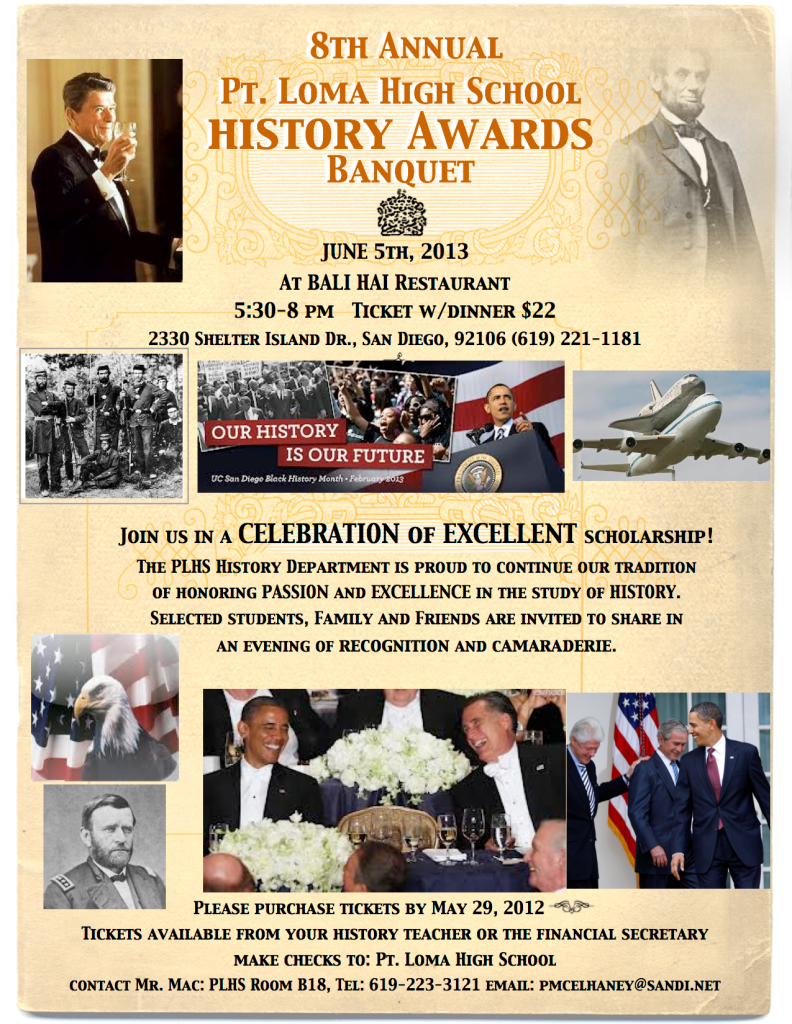 2013 History Awards Flyer