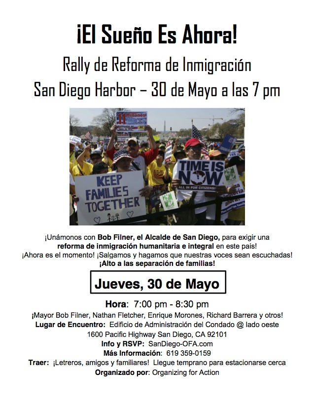 Immigration Rally Flyer - Spanish