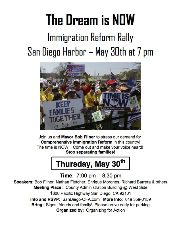 Immigration Rally Flyer