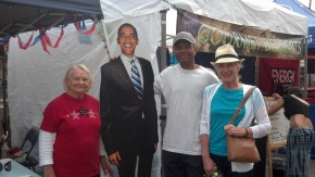 Ruth, Barack, Michael and Gerry