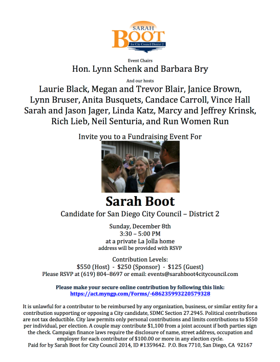 Sarah Boot Dec 8 invite