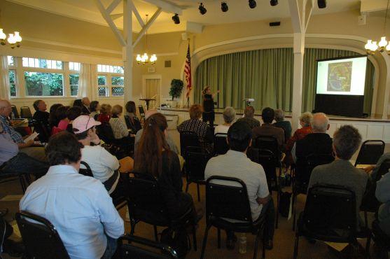 Guest speaker Martha Sullivan addresses the club