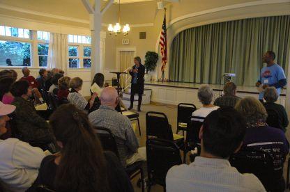Susan Peinado addresses the club