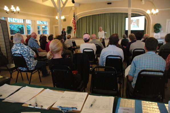Nancy Witt addresses the club