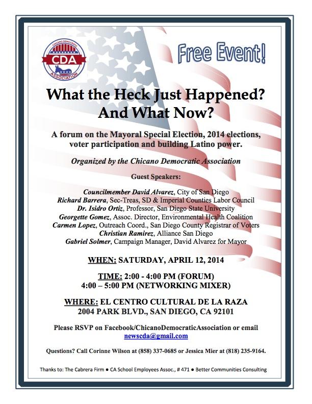 CDA Forum Flyer