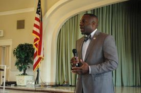 Bryon Garner talk about Proposition 41 at the Point Loma Democratic Club Meeting - May 18, 2014