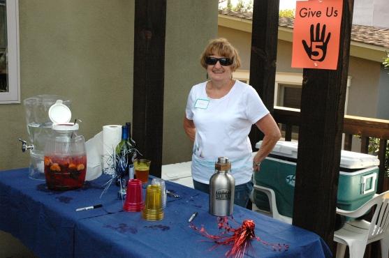 Jane Gawronski on bar duty