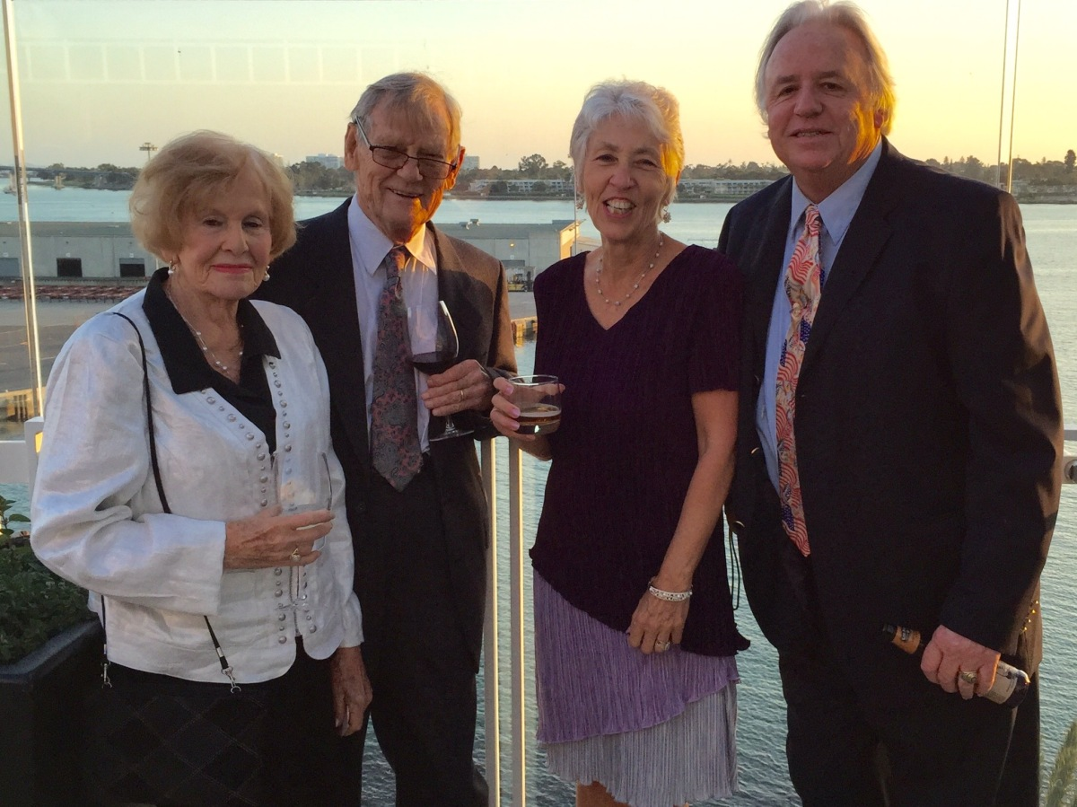 Anne Marie and Everett Kaukonen together with Nancy & Stewart Witt at the 2015 Roosevelt Dinner