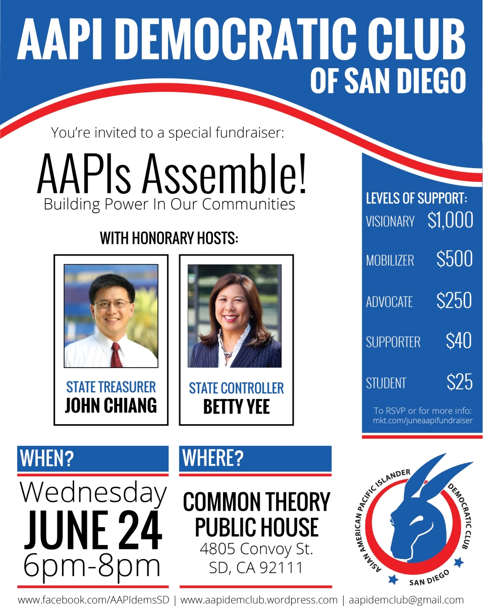 Jun 24 – AAPIs Assemble! Building Power in Our Communities | POINT LOMA & OB DEMS