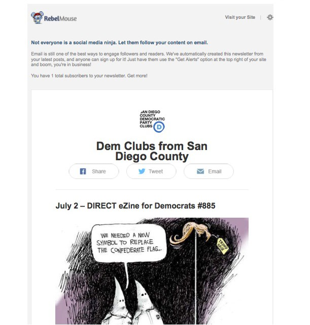 Dem Clubs from San Diego County Anyone Can Subscribe to Your Newsletter