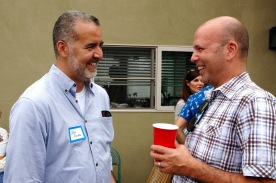 Steve Rivera and Gil Cabrera, candidate for City Attorney