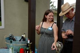 Gretchen Newsom, Secretary Point Loma Democratic Club and John Loughlin tending bar