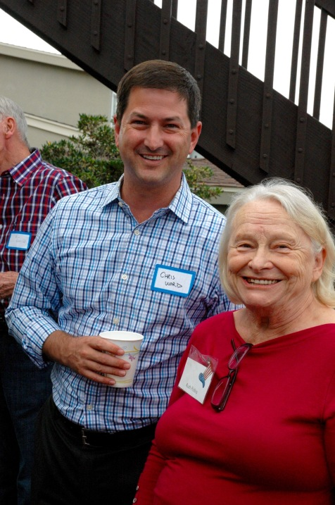 Chris Ward, candidate for District 3 and Ruth Rollins, past President Point Loma Democratic Club