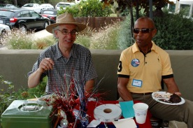 John Loughlin and Mike Johson, VP Point Loma Democratic Club