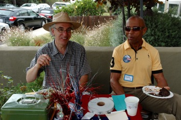 John Loughlin and Mike Johson, VP Point Loma Democratic Club