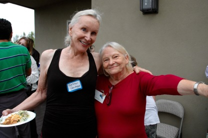 Gerry Halpern, host and Ruth Rollins, past President Point Loma Democratic Club
