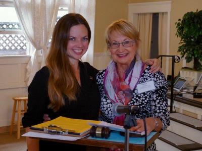 Gretchen Newsom and Susan Peinado