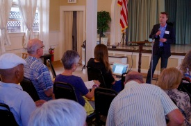 Justin DeCesare addressing club members