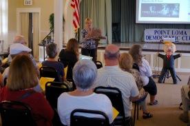 Susan Peinado addressing club members