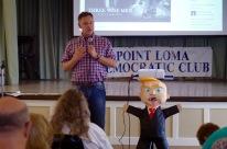 Scott Peters addressing club members