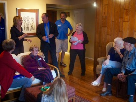 Ed Harris meeting and greeting
